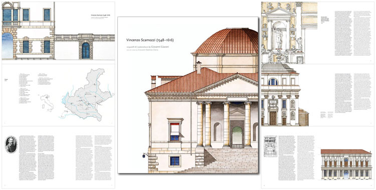 """Pages from """"Vincenzo Scamozzi (1548-1616)"""" February 2014 with text in english and italian"""